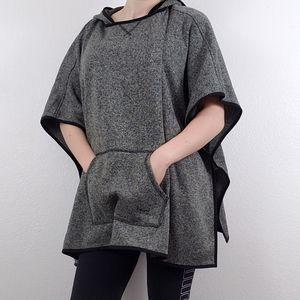Eddie Bauer fleece hooded poncho
